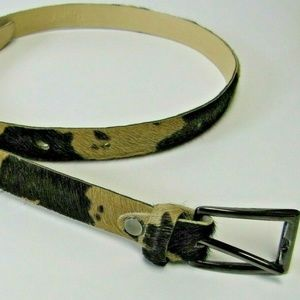 Vera Pelle Italy M Belt Leather Calf Hair 3/4″x35″